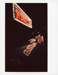 McBride Neon 1 (tobysx70) Tags: fujifilm fuji instax wide color instant film bigpitchers 500af camera mcbride neon west oak street denton texas tx music pawn shop sign incandescent light bulb night nocturnal lit illuminated reflection handheld polacon2018 polacon3 polacon 092918 toby hancock photography