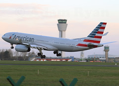 N280AY - American Airlines A330-200 (✈ Adam_Ryan ✈) Tags: dub eidw dublinairport 2019 dublinairport2019 canon 6d 100400liiisusm 100400 aviation runway28 runway n280ay americanairlines americanairlinesnewlivery a330 a330200 philadelphia aa722 february crosswind landing