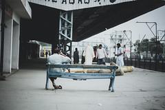 platform visit (hashirpervaiz) Tags: platfrom street photography lonely random guy bench tea morningbest