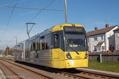 Manchester Metrolink 3032 (Mike McNiven) Tags: manchester metrolink tram metro lightrail lrv baguley manchesterairport airport victoria marketstreet southmoorroad hollyhedgeroad