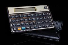 Classic HP Calculator (geoff-pics) Tags: flash strobe nikon50mm nikon50mm18 50mm18 hewlettpackard blackbackground hp calculator 12c einstein nikon strobist black background 50mm hewlett packard
