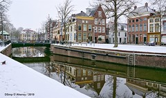 Visserbrug & Hoge der A ,Groningen Stad,the Netherlands,Europe (Aheroy) Tags: visserbrug groningenstad groningen aheroy aheroyal hogedera brug bridge water gracht stad city winter lhiver invierno puente canal brücke houses huizen archtecture architecture weerspiegeling reflections snow sneeuw nieve laneige schnee