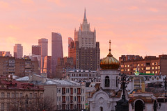 Moscow - Russia (nonac.eos@gmail.com) Tags: canon6d citycenter ef70200f4 moscow nonaceos pink russia sunset travelphotography moskva mosca ru