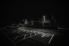 Harbour Master..... (Dafydd Penguin) Tags: blackandwhite blackwhite black white bw monochrome mono noir harbour harbor office building port dock underfall yard car park after dark night shots high iso hand held stars leica m10 voigtlander 15mm super wide heliar f45 asph