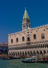 The Doge's palace and st Mark's campanile, Veneto Region, Venice, Italy (Eric Lafforgue) Tags: arches architecture belltowertower buildingexterior builtstructure campanile church city colourimage copyspace day dogespalace europe famousplace history incidentalpeople italianculture italy journey marble mediterraneanculture outdoors photography sea thepast tourism tower town travel traveldestinations unescoworldheritagesite veneto venezia venice veniceitaly venice396 vertical venetoregion