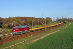 232 356-6 WFL (Zugbild) Tags: bahn br232 br132 rail train ludmilla wfl eisenbahn schkeuditz frühling deutsche reichsbahn railway güterzug grosrusse russe