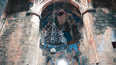 Akhtala monastery (Luciferasi) Tags: armenia hayastan travel march 2019 winter spring cold places monastery church architecture religion christianity apostolic history haghpat alaverdi akthala fortress fresco chandelier