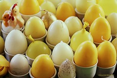 HUEVOS    EGGS    EIEREN (Anne-Miek Bibbe) Tags: huevos eggs eieren lookingcloseonfriday paaseieren eastereggs huevosdepascua oeufsdepâques ostereier canoneos70d annemiekbibbe bibbe nederland 2019 geel yellow yeaune gelb giallo amarillo amarelo paaskaarsen velasdepascua bougiesdepâques