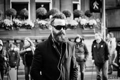 Walk (Cycling-Road-Hog) Tags: beard candid canoneos750d citylife efs55250mmf456isstm edinburgh edinburghstreetphotography headphones man mobile people places princesstreet scotland shades street streetphotography streetportrait style urban