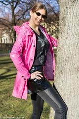 Pink panther (sexyrainwear_dot_online) Tags: vinyl pvc latex leather lack leder boots overkneeboots overknees lackundleder lackleder lackmantel vinylcoat vinyljacket vinylskirt pvcskirt lackjacke lackstiefel