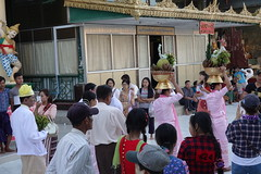 Ordination ceremony for novice Buddhist monks, Shwedagon Pagoda, Yangon (2) (Prof. Mortel) Tags: myanmar burma yangon rangoon buddhist pagoda shwedagon monks