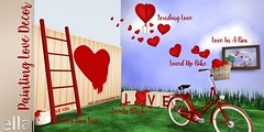Painting Love Promo (Ella SL) Tags: secondlife event boardwalk decor valentine heart elladesigns