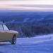 Subaru in the snow