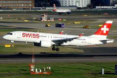 Swiss | Airbus A220-300 | HB-JCG | London Heathrow (Dennis HKG) Tags: aircraft airplane airport plane planespotting staralliance canon 7d 100400 london heathrow egll lhr swiss swissair swr lx switzerland bombardier cseries bcs3 cs300 a220 airbus a220300 airbusa220 airbusa220300 hbjcg