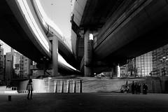 P2023812 Urban space (soyokazeojisan) Tags: japan osaka city light park people bw blackandwhite monochrome digital olympus em1markⅱ 918mm 2019