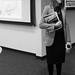 Amy Scarton Conversing in B&W