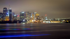 Another shot of the iconic Opera House (Moritz Lino) Tags: sydney australia australien view ausblick panoramic city big light lights flash boats travel reisen nacht night bright fujixe3 fujinon fuji fujifilm fujix moritzlino opera house skyline skyscraper skyisthelimit building hochhaus hafen harbour bridge brücke lightpainting living