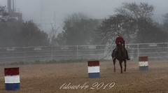 Playday - 19 (1slowt4r) Tags: cowgirls cowgirl rodeo texashillcountry barrelracing texas outside people horse fog spring