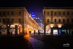 Piazza San Carlo (nybblr) Tags: christmas italy turin torino piedmont winter night dusk twilight nightscape city cityscape square stars architecture