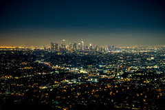Downtown LA at night (Miscolo) Tags: xt1 night usa griffithpark cinematic grid griffithobservatory city cityscape fujifilm la lights california summer distance buildings smog horizon westcoast america losangeles electricity nightlights downtown