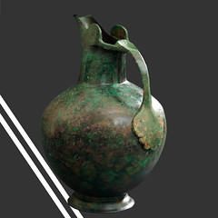 Ancient bronze spouted oinochoe, part of the Vassil Bojkov Collection (thracefoundation) Tags: ancient art vassilbojkovcollection mythology thrace ancienthistory artifact artefact history thracefoundation ancientgreece oinochoe