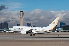 Ruffin BBJ (dmeg180) Tags: plane airplane aircraft jet bbj boeing 737 lasvegas las klas runway nevada mccarran nikon d500 70200mm