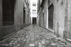 Rimini (goodfella2459) Tags: nikonf4 afnikkor24mmf28dlens fujifilmneopanacros100 35mm blackandwhite film analog rimini italy streets buildings bwfp