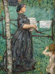 Le Grand Jardin (detail) (sylvain.collet) Tags: france femme profil art visage peinture filles jardin enclos lesnabis fruits enfant linge fleurs