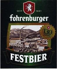 Austria - Brauerei Fohrenburg (Bludenz) (cigpack.at) Tags: austria österreich brauereifohrenburg bludenz anniversary 130th fohrenburgerfestbier bier beer brauerei brewery label etikett bierflasche bieretikett flaschenetikett