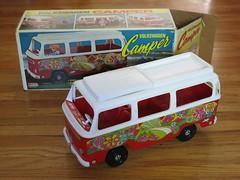 Volkswagen Camper by Empire Toys (hmdavid) Tags: vintage volkswagen camper 1970s toy dolls empire hippie vw bus flowerpower doll