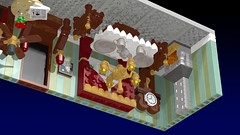 The Mysterious Upside Down Room right (Oky - Space Ranger) Tags: lego ideas tower game virtual room mysterious upside down victorian living