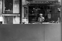 Window cooker (Go-tea 郭天) Tags: qingdao shandong républiquepopulairedechine cn window cook cooker cooking lady duty busy uniform food restaurant kitchen alone lonely work working woman street urban city outside outdoor people candid bw bnw black white blackwhite blackandwhite monochrome naturallight natural light asia asian china chinese canon eos 100d 24mm prime in inside portrait