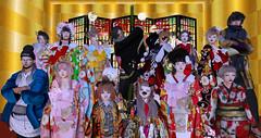 お正月写真。全体バージョン (Miyabi Harucus 1102) Tags: secondlife slavatar scene friend fashion kimono kawaii maitreya