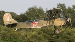 "G-BSSY ""28"" Polikarpov Po-2 (Anhedral) Tags: shuttleworthcollection oldwarden vintage airplane aircraft piston gbssy polikarpov po2 mule soviet biplane kukuruznik takeoff"