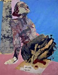 timeworn future 36 x 48 (Hildy Maze) Tags: abstract contemplative figurative painting collage httphildymazecom