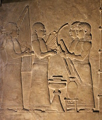 Musicians at a banquet (calmeilles) Tags: london england unitedkingdom ashurbanipal britishmuseum assyria ancienthistory archaeology middleeast nineveh
