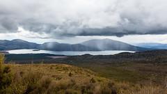 Rain over Lake Rotoaira (explored) (Jean-Marie Will) Tags: neuseeland nordinsel tongariro crossing bergwanderung überquerung querung wandern bergwandern wolken regen regenschauer rotoaira lake taupo