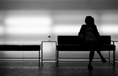 Waiting Room (CoolMcFlash) Tags: bnw blackandwhite bw person silhouette light woman female room sitting waiting sw schwarzweis raum kontur licht frau sitzen warten fotografie photography fujfilm xt2 xf35mmf14 r