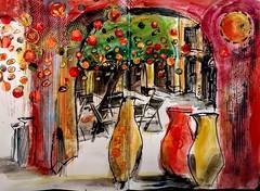 Mandarins, Museo de Jorge Rando, Málaga (Happy Sketcher) Tags: illustration sketch urbansketch drawing spain