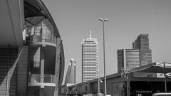City (pi3rreo) Tags: nikon city coolpix ciel sky skyscraper immeubles building noiretblanc white black extérieur urbain urban urbanscape dubai uae ville