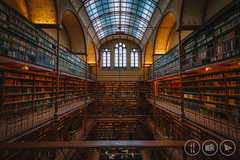 Rijksmuseum Research Library (Adrian Court LRPS) Tags: amsterdam arches aurorahdr2019 books capital ceiling city hdr historic holland museum netherlands night researchlibrary rijksmuseum shelves skylight windows wood northholland nl