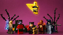 Mystic Villainy (Andrew Cookston) Tags: lego dc comics doctor dr fate kent nelson earth2 felixfaust wotan klarion thewitchboy teekl blackbriarthorn doctordestiny magic magical editing spooky photoshop custom minifig lab9minifigures purple brown tan gold black white macro toy still life photography andrew cookston andrewcookston