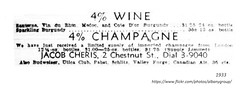 Jacob Cheris   2 chestnut liquor distributor  1933 - opened up immediately after the end of Prohibition (albany group archive) Tags: 1930s old albany ny vintage photos picture photo photograph history historic historical