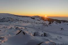 Winter sunset (Rivo 23) Tags: vitosha mountain bulgaria mount kamen del peak sunset winter snow витоша залез връх камен дел