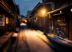 Exploring Takayama (Trey Ratcliff) Tags: japan trey treyratcliff stuckincustoms stuckincustomscom takayama street night lights bike culture explore customs hdr hdrtutorial hdrphotography hdrphoto aurorahdr photography
