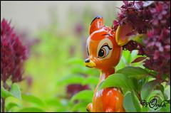 Bambi ~06 (Orphen 5) Tags: disney bambi disneybambi disneybambifigurine bambifigurine flower bambiphotoclip bambifigurineprimark bambiprimark primark london tumblr cute