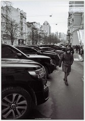 Under the watchful eye of cars   Під пильним наглядом автомобілів (Ігор Кириловський) Tags: control machines кириловскийигорь кириловськийігор 35mm 135 bw kirilovskiigor kyrylovskyy chernivtsi tschernowitz ukraine viewfinder agfaoptima1035sensor agfa solitars40mmf28 film fomapan200creative rodenstock yellowmedium8 fotofond kyiv cars watchfuleye