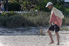 Skinny legged old guy barefoot on the beach (LarryJay99 ) Tags: barefoot barefuss beach dude dudes fense guy guys handsome lakeworthbeach legs male man manly men oldguy people picketfence profile sandy studly virile