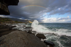 Evening with a rainbow in Hermanus, South Africa (Stefan Zwi.) Tags: hermanus südafrika southafrica