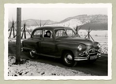 "Standard Vanguard (Vintage Cars & People) Tags: vintage classic black white ""blackwhite"" sw photo foto photography automobile car cars motor standard vanguard standardvanguard phaseii 1950s 50s fifties winter snow landscape countryside"